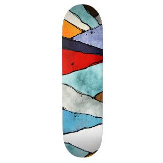 Patines Ángulos de colores texturizados