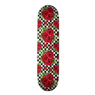 Patines Personalizados Rockabilly floral del amor del ramo de los rosas