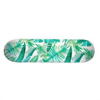 Patineta Personalizada Cubierta tropical de la hoja por el diseño de