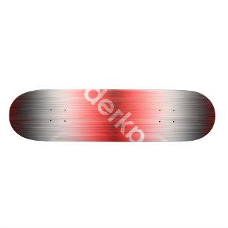 Patinetas Personalizadas Negro blanco rojo de la pendiente de Derka