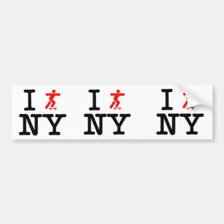 Patino valor de Nueva York Pegatina Para Coche