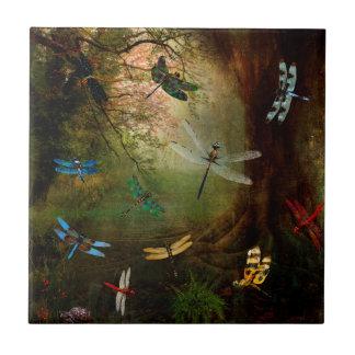 Patio de la libélula azulejo de cerámica