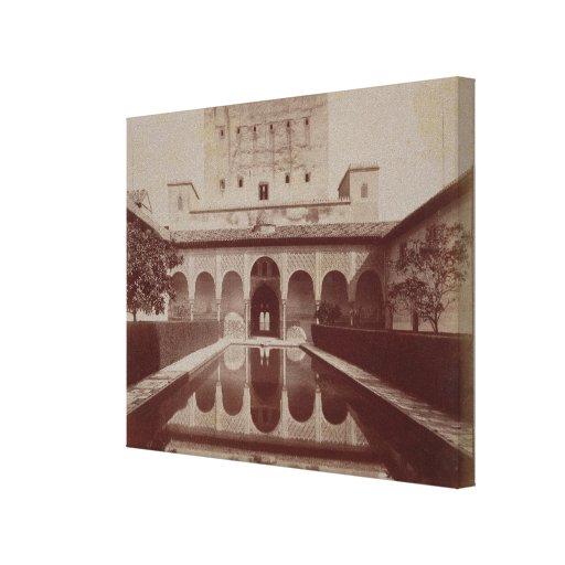 Patio de los Arrayanes, Alhambra, c.1875-80 (sepia Impresiones En Lona Estiradas