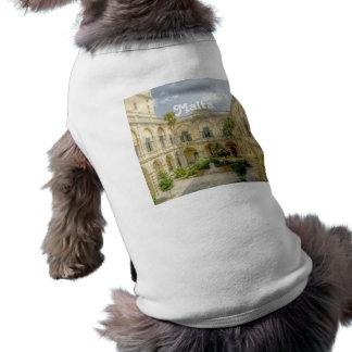 Patio de Malta Camiseta Sin Mangas Para Perro