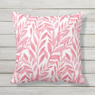 Patio frondoso rosado femenino del modelo de la cojín de exterior