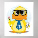 Pato del profesor de matemáticas impresiones