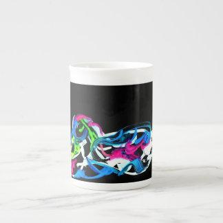 Pato del rey taza de porcelana