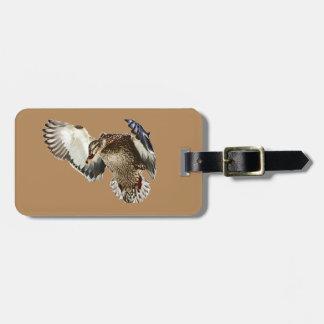 Pato en vuelo etiquetas para maletas