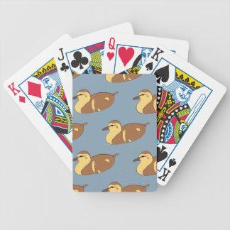 Patos de la natación baraja de cartas bicycle