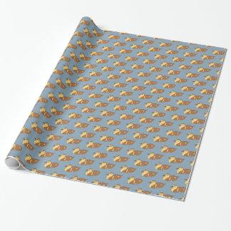 Patos de la natación papel de regalo