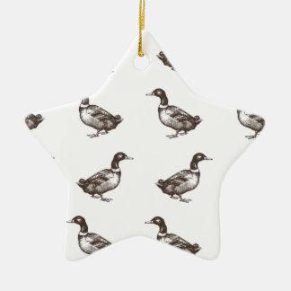 Patos del corral de la colección de Emma Janeway Adorno Navideño De Cerámica En Forma De Estrella