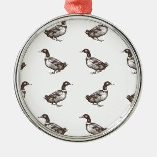 Patos del corral de la colección de Emma Janeway Adorno Navideño Redondo De Metal