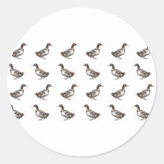 Patos del corral de la colección de Emma Janeway Pegatina Redonda