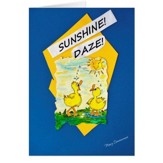 Patos del deslumbramiento de la sol tarjeta de felicitación
