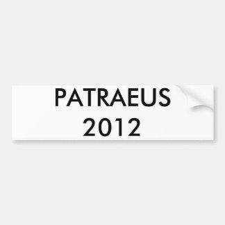 PATRAEUS 2012 ETIQUETA DE PARACHOQUE