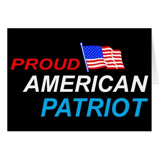 Patriota americano orgulloso tarjeta de felicitación