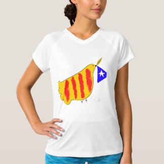 Patriotic Symbol, Catalonia freedom dove. Camiseta