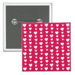 Patrón Corazones del día del amor de San Valentín Chapa Cuadrada 5 Cm