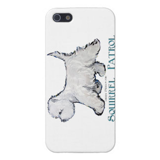 Patrulla de la ardilla de Westie iPhone 5 Carcasas