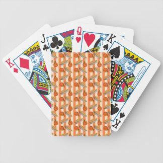 Patten del melocotón y de la empanada baraja de cartas