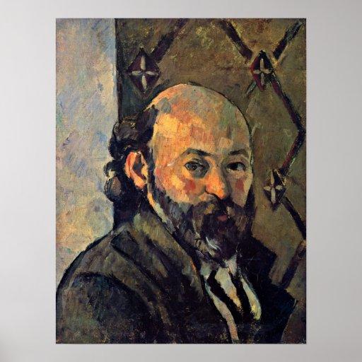 Paul Cezanne - autorretrato del papel pintado Poster