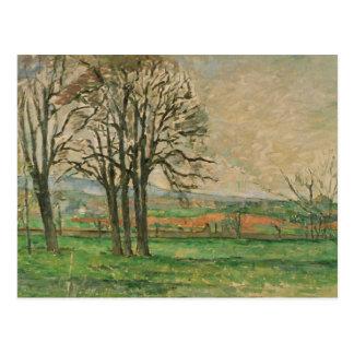 Paul Cezanne - los árboles desnudos en Jas de Postal
