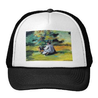 Paul Cezanne - pintor en el trabajo Gorros Bordados