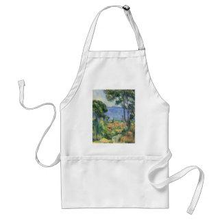 Paul Cezanne - vista del d'If de L'Estaque y de Delantal