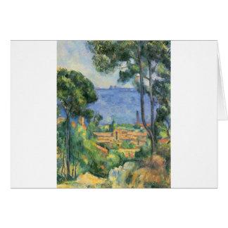 Paul Cezanne - vista del d'If de L'Estaque y de Tarjeta De Felicitación