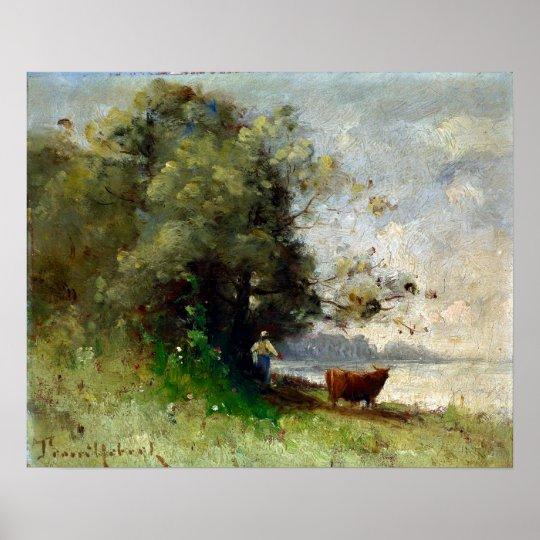 Paul-Désiré Trouillebert por el lago Póster
