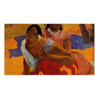 ¿Paul Gauguin- cuando es usted que consigue casado Tarjeta De Negocio