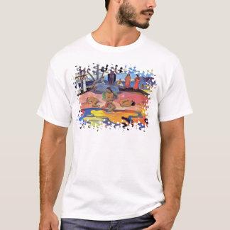 Paul Gauguin - día de dioses - pintura de la bella Camiseta