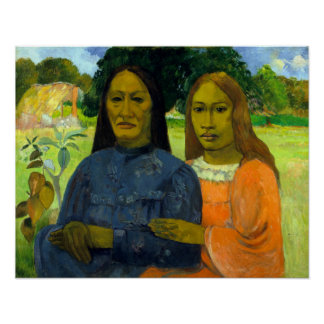 Paul Gauguin dos mujeres Póster