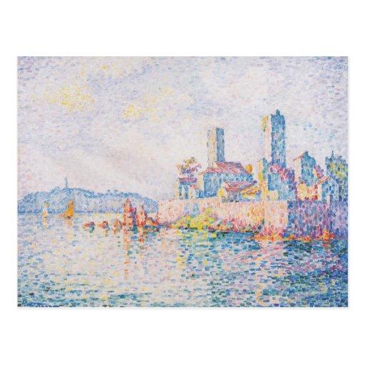 Paul Signac- Antibes, las torres Tarjeta Postal
