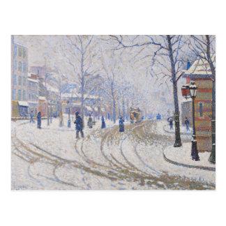 Paul Signac - nieve, Boulevard de Clichy, París Postal
