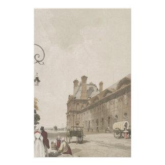 Pavillon de Flore en 1839 Papelería De Diseño