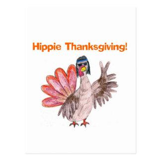 Pavo de la acción de gracias del Hippie Postal