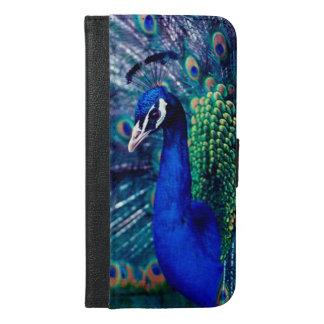 Pavo real azul carteras