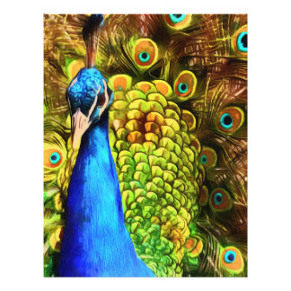 Pavo real colorido flyer