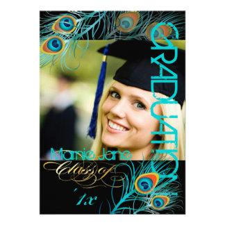 Pavo real de PixDezines, 2013 graduación, fondo di Comunicado Personalizado