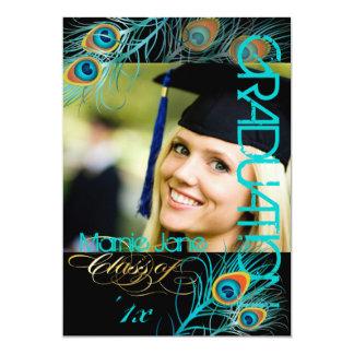 Pavo real de PixDezines, 2013 graduación, fondo Invitación 12,7 X 17,8 Cm