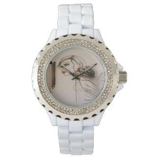 Pavo real reloj