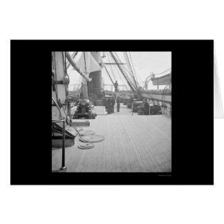 Pawnee de USS en el puerto de Charleston, SC 1864 Tarjeton