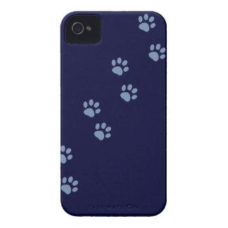 pawprints del gato del perro de mascotas iPhone 4 cárcasa