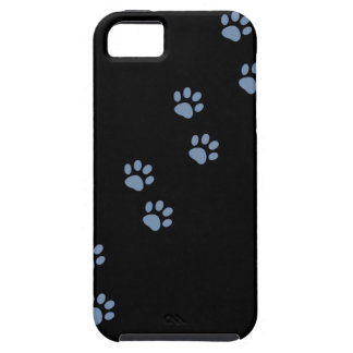 pawprints del gato del perro de mascotas iPhone 5 Case-Mate cárcasa