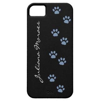 pawprints del gato del perro de mascotas iPhone 5 funda