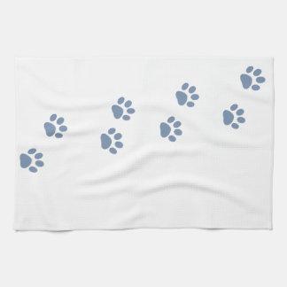 pawprints del gato del perro de mascotas toallas de cocina