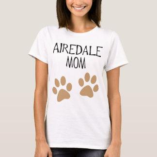 pawprints grandes de la mamá del airdale camiseta