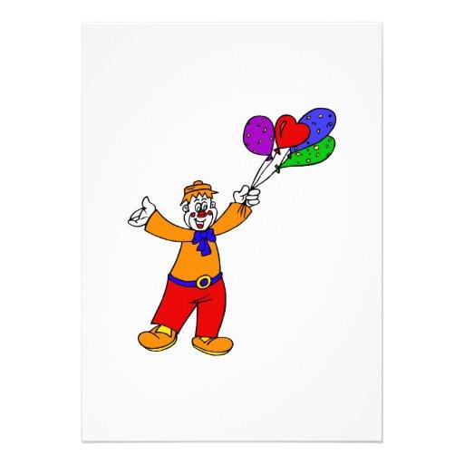 Payaso con los globos comunicado personalizado