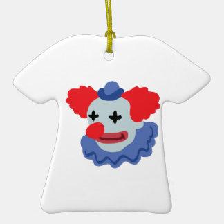 Payaso de circo adorno de cerámica en forma de camiseta